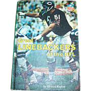 SALE Collectible Book Great Linebackers of the NFL  Kaplan