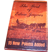 Collectible Vintage Book The Best of Edna Jaques Poetry