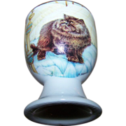 Vintage Collectible Porcelain  Kitty Cat Egg Cup Crown Ashton New Brunswick