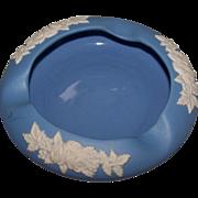 ECanada Made In Canada Art Pottery Medium  Blue Ashtray