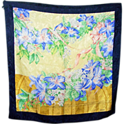 SALE Pretty As A Picture Designer Signed erre Mixed Floral Motif Silk Scarf