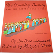 Soft Cover Book The Country Bunny And The Little Gold Shoes