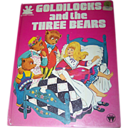 "Vintage Children's Over Sized Book "" Goldilocks and the Three Bears "" Story Time"