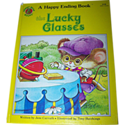 """Over Sized Children's Book  A Happy Ending Book """" The Lucky Glasses """" Honey Bear Boo"""
