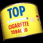 Collectible Vintage TOP Tobacco Advertising Tin Litho Can