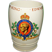 Collectible Vintage Mintons Coronation Beaker King Edward VIII C. 1937 ROYALTY