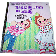 Vintage Children' s Book Raggedy Ann and Andy and the Rainy-Day Circus  by Barbara ...