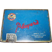 A Collectible Vintage  Players Navy Cut Advertising Tobacco Cigarette Tin