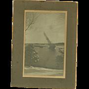 Cabinet Card Photo A.W. Chisholm Schooner Stranded on Clam Island Nova Scotia
