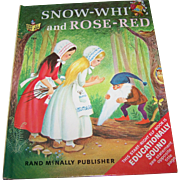 "Children's Book "" Snow - White and Rose - Red Rand McNally"