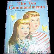 "Charming Little Children's Book "" The Ten Commandments """
