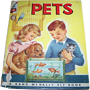 "Children's Vintage Book "" PETS "" A Rand McNally Elf Book"