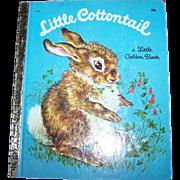 "Charming Vintage  Little Golden Book "" Little Cottontail """