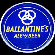 Vintage Advertising Tin Litho Tray Ballantine's Ale Beer