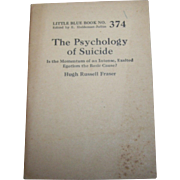 The Psychology of Suicide: Is the Momentum of an Intense Exalted Egotism the basic cause  Hugh