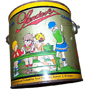 SALE Rare Collectible Vintage Advertising SANDERS Candy Tin Pail