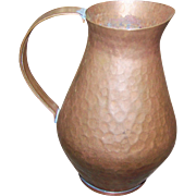 Vintage Hammered Vintage Metal Ware Copper Jug Pitcher