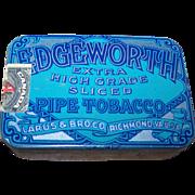 Small Advertising Tin Litho  Box Edgeworth Tobacco Match Striker to Bottom