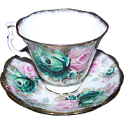 SOLD Royal Albert England  Bone China Tea Cup Saucer Set Summer Bounty Series JADE
