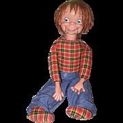 Otis O'Brien Vintage Dummy Ventriloquist Doll Uneeda Doll Company Original TAG