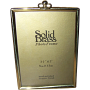 Lovely Vintage Hand Polished Solid Brass Picture Frame