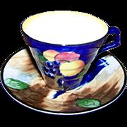 "Vintage H & K Tunstall Tea Cup Saucer Set "" Autumn "" Pattern"