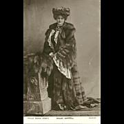 SOLD Vintage Real Photograph Post Card Maudi DARRELL Maudi  Vaudeville Actress Philco Series