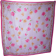 Pretty Vintage Polyester all over Floral Print Ladies Fashion Scarf