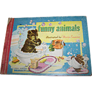 """Vintage Collectible Children's Board Book """" Funny Animals """" John Martin's House"""