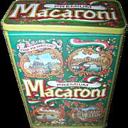 Decorative Case Manufacturing Co Inc Macaroni Tin Commemorative Made In England