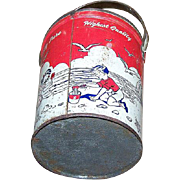 Collectible  Advertising Tin Litho Schwartz Peanut Butter Pail Bucket  Beurre D'Arachidies