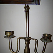 Colonial Style Vintage  Brass Candelabra