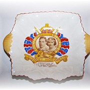 SOLD Royalty Shelley Mint Dish Sepia Portrait Copyright Van Dyk King George VI - Red Tag Sale