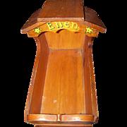 Folk Art Hooded Doll Cradle Handmade Rustic Wood Toy Furniture Prop