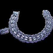 SALE Chunky Vintage Sterling Silver Charm Bracelet Stamped EJ Ster