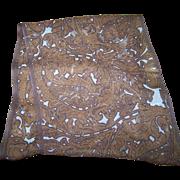 Long Rectangular Silk Paisley Pattern Scarf Designer Signed  AK ANNE KLEIN