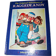 Vintage Over Size Hard Cover Children's Book  The Original Adventures of Raggedy Andy