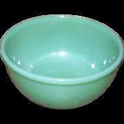 Mid - Century Green Glass Jadeite Jadite Mixing Bowl