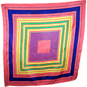 Rather Unique Hypnotizing Pattern Colorful Ladies Fashion Scarf Wearable ART