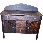 Vintage Salesman's Sample Folk Art Toy Wooden Side Board Buffet