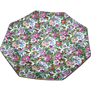 Vintage Crown Ducal Ware VICTORIA Octagonal Chintz  Luncheon Plate England