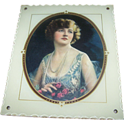 SALE Lovely Vintage Deco Era Reverse Painted Photograph Picture Frame with Print