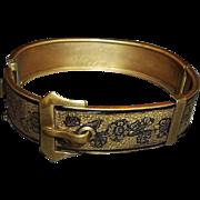 SALE Vintage taille d'Epargne / d'Epergne Buckle Bangle Bracelet
