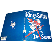 """Hard Cover Over Size Book """" The King's Stilts """" By Dr. Seuss"""