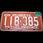 Metal Ware Collectible Souvenir License Plate New Brunswick Picture Province