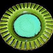 WADE CALIFORNIA USA  Mid-Century Modern Glazed Ashtray Decorative Piecrust Style Dish