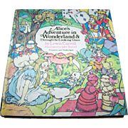 "Hard Cover Book "" ALice's Adventures in Wonderland & Trough The Looking Glass "" By L"