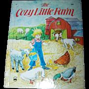 "Charming Children's Book "" The Cozy Little Farm ""  By Louise Bonino Wonder Books New"