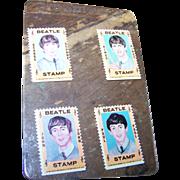 Four Unused Vintage 1964 Hallmark Beatles Stamps Ringo Paul John George