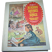 """Charming Hard Cover Children's Book """" Best Loved Nursery Rhymes and Songs """" by Paren"""